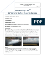 10in Laminar Defect Repair on Refined Products Pipeline Case Study Canada