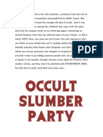 Occult Slumber Party Rules June 2014
