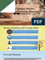 Alih Fungsi Hutan Lindung Gunung Wayang