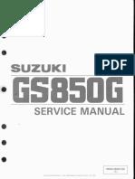 Suzuki GS850 Service Manual