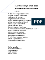 BAHASA MELAYU KSSR UPSR 2016- Bandingan Semacam & Peribahasa