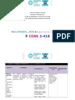 """CENS 3-418 PROGRAMA """"MENDOZA EDUCA"""" CALIDAD DEL APRENDIZAJE Y LA GESTIÓN INSTITUCIONAL PLAN OPERATIVO ANUAL 2016 PROVINCIA DE MENDOZA"""