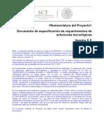 Documento de Especificación de Requerimientos de Soluciones Tecnológicas