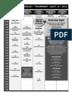 2016 Grey Fox Bluegrass Festival Schedule