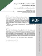 Estructura y temporalidad urbana de las ciudades intermedias en México