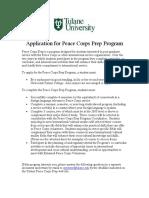Application to Peace Corps Preparatory Program