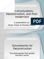 14 - Post-Structuralism, Deconstruction, And Post-Modernism