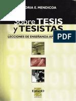 Sobre Tesis y Tesistas - Lecciones de Enseñanza-aprendizaje