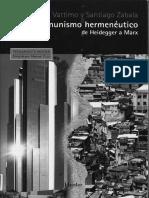 Vattimo. Gianni y Santiago Zabala - COMUNISMO-hermeneutico-pdf.pdf