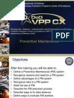 111 - Preventive Maintenance Training