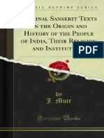 Original Sanskrit Texts on the Origin and History of the People of India