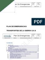 Plan de Emergencias Plan de Emergencias