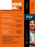 Global dialogue (ISA AIS) La sociologie française aujourd'hui 2014