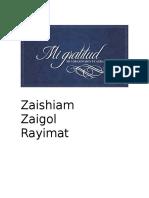 Zaishiam Oraciones de Luz