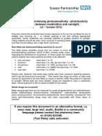 Οδηγός πρόληψης αντιδράσεων φωτοευαισθησίας/φωτοτοξικότητας από το συνδυασμό χρήσης φαρμάκων και έκθεσης στον ήλιο