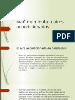 Mantenimiento a Aires Acondicionados