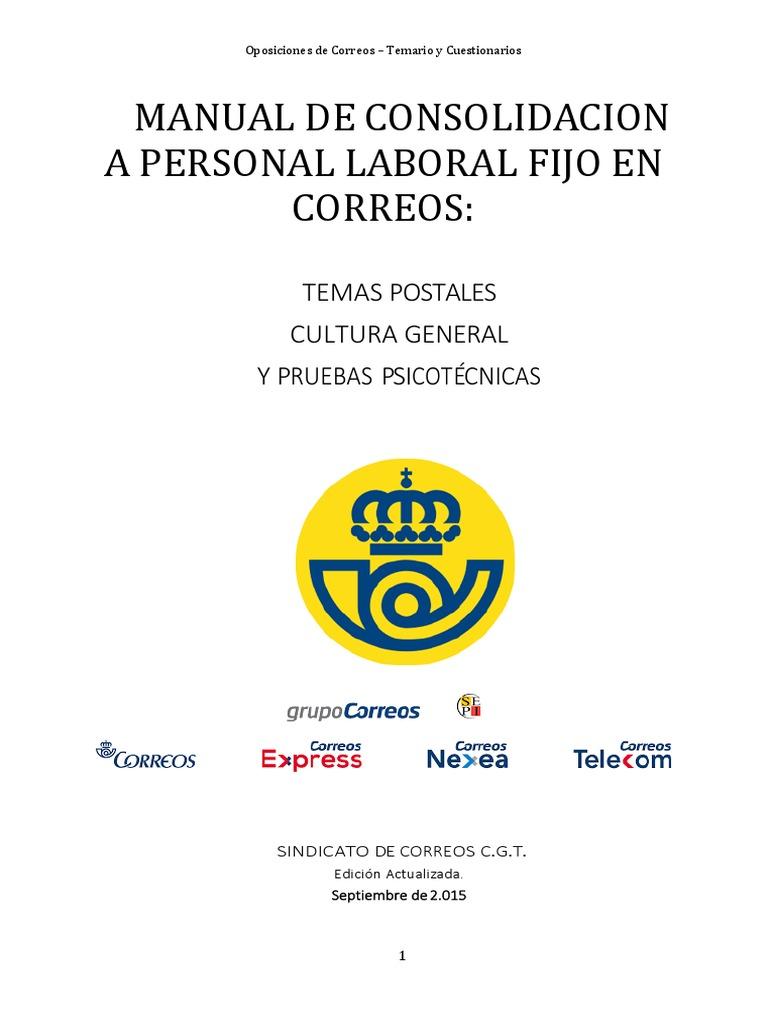 f8a375c2d Manual de Consolidacion a Personal Laboral Fijo en Correos beta