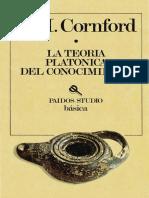 Cornford Teoría platonica del conocimiento