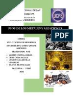 USO DE LOS METALES Y ALEACIONES