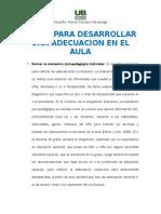 PASOS PARA DESARROLLAR UNA ADECUACION EN EL AULA.docx