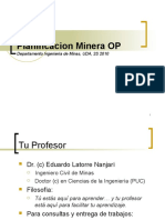 Introducción a la Planificación Minera
