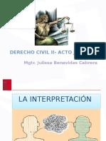 Derecho Civil - Acto Juridico