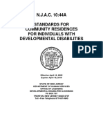 N.J.A.C. 10_44A  STANDARDS FOR  COMMUNITY RESIDENCES  FOR INDIVIDUALS WITH  DEVELOPMENTAL DISABILITIES, 2005 - 2010.pdf