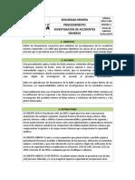 Referencial de Procedimiento de Investigación de Accidentes Mineros