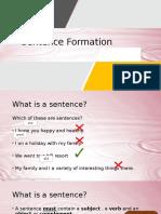 Sentence Formation Presentation