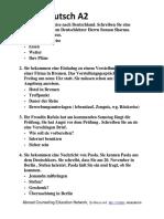 Start Deutsch a2 Letter Questions