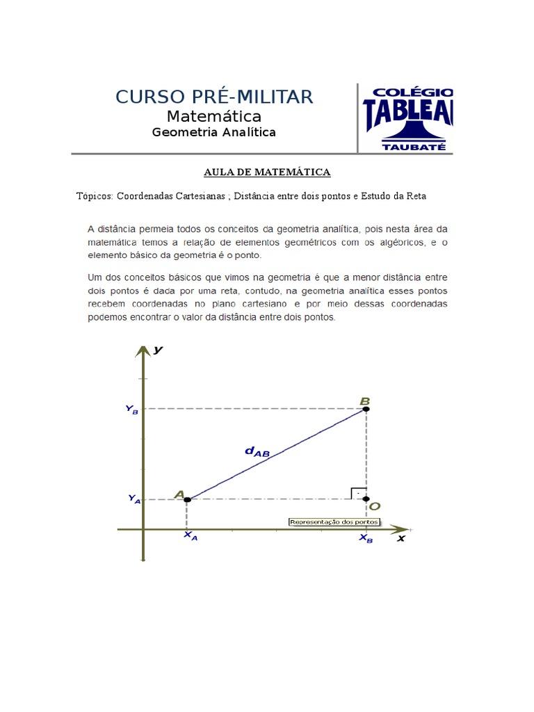 Aula de Matematica - Geometria Analitica - 12 Fev 2016 - Turmas EsSA Barro  Branco e EsPCEx - Prof Neto - Curso Tableau 9134131451551