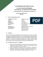 Silabo URP IF1001-Taller Aplicacion Profesional V2