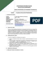 Silabo ABET IF1001 TallerAplicacionProfesional Version V2