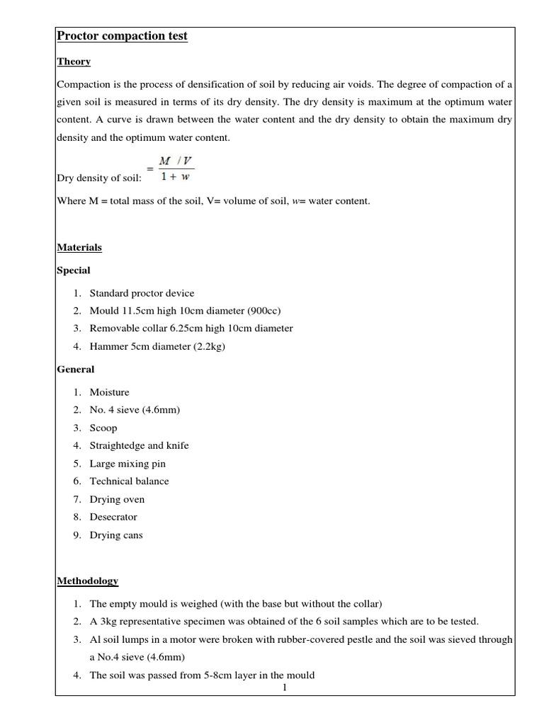 Practical 10 Soil Compaction   PDF   Soil Science   Nature