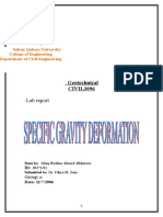 Specific Gravity Determination