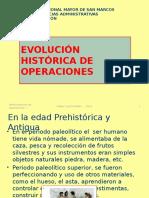 Evolución Histórica de Operaciones