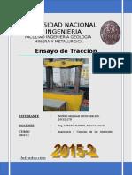 8° ENSAYO DE TRACCION