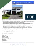 Plan W32051AA- Contemporary Florida Style Home Plan