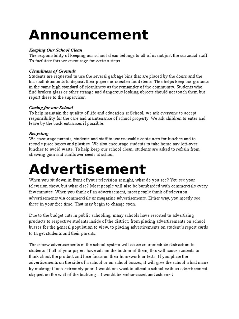 Announcement Television Advertisement Advertising