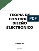 E-book Teoria de ContTEORIA DE CONTROL Y DISEÑO ELECTRONICOrol y Diseño Electronico