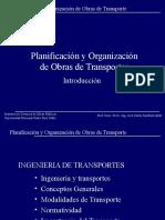 planificasion y organizacion de obras de transporte