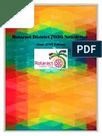 District Newsletter June 2016 (English)