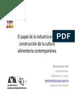 El Papel de La Industria en La Construcción de La Cultura Alimentaria Contemporanea_miriam Bertran Vila_09!06!16