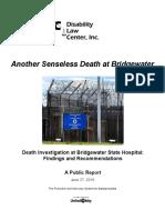 Public Report - Another Senseless Death at Bridgewater Final