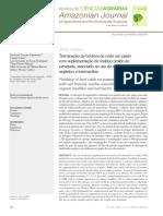 Terminação de Bovinos de Corte Em Pasto Com Suplementação de Resíduo Úmido de Cervejaria, Associado Ao Uso de Modificador Orgânico e Ivermectina