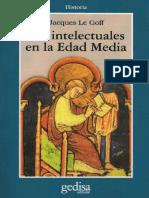 Los Intelectuales de La Edad Media