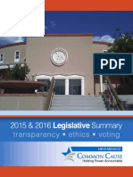 Common Cause New Mexico 2015-2016 Scorecard