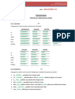 Test Conjugaison 1 CORRECTION