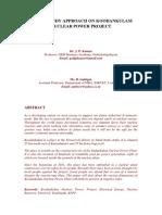 A CASE STUDY APPROACH ON KOODANKULAM NUCLEAR POWER PROJECT