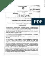 Decreto 1079 de 2015 Sector Transporte
